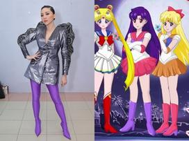Tóc Tiên gây 'shock nhiệt' với thời trang thủy thủ mặt trăng quái dị