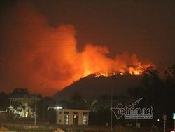 Hà Nội: Rừng Sóc Sơn cháy dữ dội
