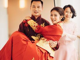An Dĩ Hiên hạnh phúc trong đám cưới với chồng đại gia tại Hawaii