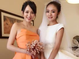 May mắn nhất dàn phù dâu, Trần Kiều Ân bắt được hoa cưới từ An Dĩ Hiên