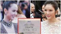 Vũ Ngọc Anh tung thiệp mời bế mạc Cannes và không quên 'đá xoáy' Lý Nhã Kỳ