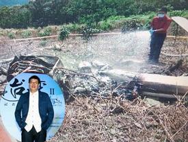 Công bố ảnh hiện trường thảm khốc vụ tai nạn máy bay khiến đạo diễn Đài Loan chết cháy