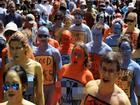 Hàng trăm người Mỹ khỏa thân giữa Quảng trường Thời đại