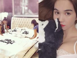 'Đột nhập' phòng ngủ khám phá chiếc giường sang chảnh của Ngọc Trinh