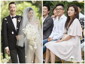 Tham dự đám cưới đàn em, Triệu Vy và Tô Hữu Bằng được quan tâm hơn cả cô dâu chú rể