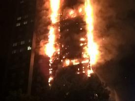 Nạn nhân la hét, tìm cách thoát khỏi tòa tháp bốc cháy ở London