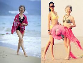 Giảm 15 kg, cụ bà U90 kiếm bộn tiền nhờ đắt show làm mẫu