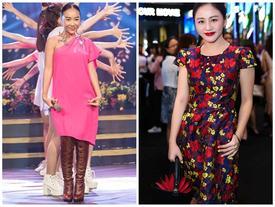 Thảm họa thời trang: Đoan Trang 'trên hè, dưới đông', Văn Mai Hương già chát như U40