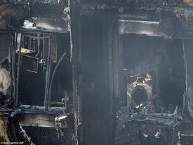 Những hình ảnh đầu tiên bên trong chung cư ở London sau khi lửa tàn