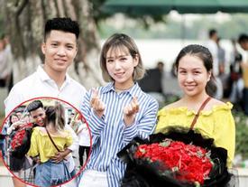 Màn cầu hôn với sự 'hậu thuẫn' của nữ ca sĩ Min làm náo loạn phố đi bộ Hồ Gươm