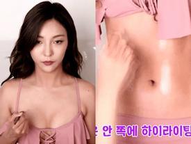 Luna f(x) bật mí cách 'ăn gian' ngực đầy, tay săn chắc, bụng rõ múi chỉ với vài đường make-up cơ bản