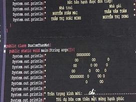 Thiệp cưới bằng ngôn ngữ lập trình của cặp vợ chồng IT