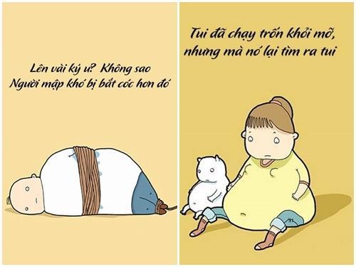 Ảnh hài: Những câu châm ngôn 'kinh điển' của người béo