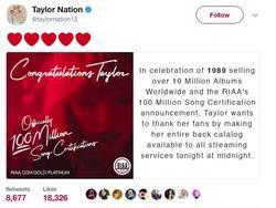 Taylor Swift thu về 8 tỷ sau hai tuần tái phát hành nhạc