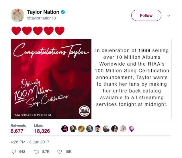 Taylor Swift thu về 8 tỷ sau hai tuần tái phát hành nhạc -1