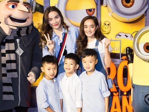 Hồ Ngọc Hà 'đọ sắc' với Kaity Nguyễn khi đưa bé Subeo đi xem hoạt hình
