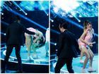 Nhảy quá sung, Trang Pháp văng cả mic xuống sân khấu