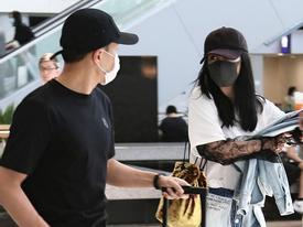 Dương Mịch được Lưu Khải Uy ân cần ra tận sân bay đón