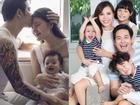 Những gia đình sao Việt có chồng đẹp, vợ xinh và con dễ thương hơn thiên thần