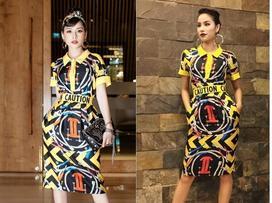 Chi Pu chịu khó 'mặc lại' trang phục của Phạm Hương tại The Face năm ngoái