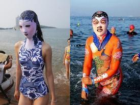 Dân Trung Quốc lại 'phát cuồng' với áo tắm như tượng sứ