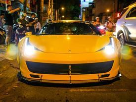 Cận cảnh 'siêu phẩm' Ferrari 458 Italia độ Liberty Walk đầu tiên tại Việt Nam