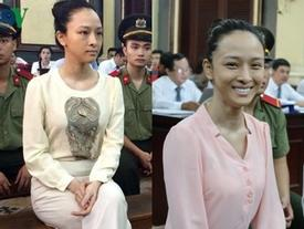 2 chiếc áo đặc biệt hoa hậu Phương Nga mặc từ lúc bắt đầu phiên xử tới khi được tại ngoại