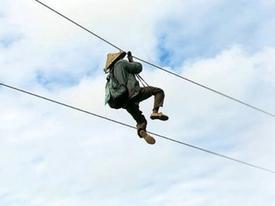 Clip hài: Đu dây không hề dễ như ta tưởng