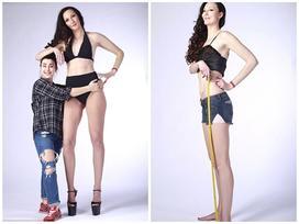 Cô gái 'khổng lồ' có đôi chân dài nhất thế giới