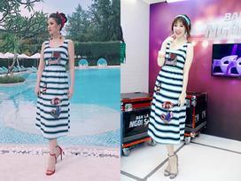 Hari Won liệu có vượt mặt Bảo Thy khi đụng váy rực rỡ?