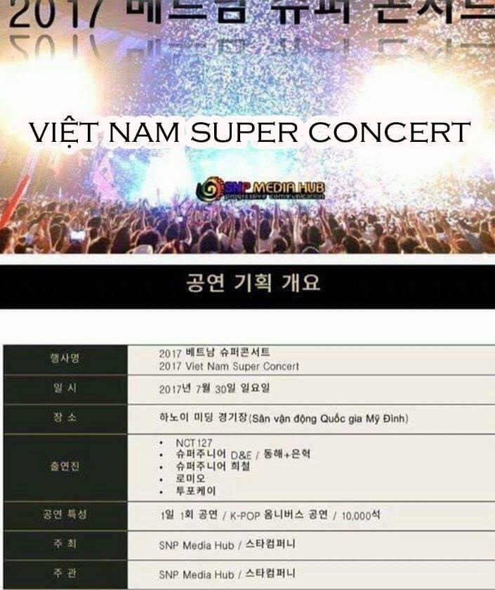 Nhóm nhạc đình đám Super Junior - NCT 127 sẽ tới Hà Nội cuối tháng 7 này?