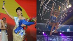 Á hậu Huỳnh Yến Nhi trổ tài làm xiếc đu đèn trên cao khiến người xem... hết hồn