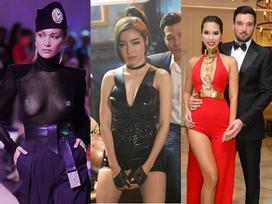 Hà Anh diện váy hở bạo, Elly Trần trang điểm phát sợ trên thảm đỏ tuần này