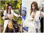 Hết học võ, Ngọc Trinh lại học lái mô-tô phân khối lớn để làm 'đả nữ'