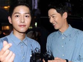 Song Joong Ki cười rạng rỡ dưới mưa, lần đầu xuất hiện sau thông báo kết hôn