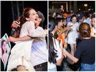 Fan cuồng lao lên sân khấu, vây kín khiến Bảo Anh vừa mừng vừa lo