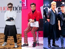 Không mặc váy lên ghế nóng, Nam Trung vẫn khác biệt nhờ hình ảnh 'giám khảo tắc kè hoa'