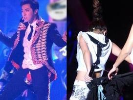 Những pha rách quần, tụt áo muốn 'độn thổ' của sao Châu Á trên sân khấu