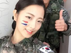 Cô nàng 'đẹp hơn ngôi sao' trở thành đại diện của quân đội Hàn