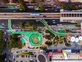Đường trên cao cho xe đạp dài nhất thế giới ở Trung Quốc