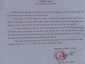 Thực hư thông báo bắt cóc trẻ em gây hoang mang ở Thái Nguyên