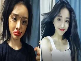 Lột xác từ xấu thành xinh trong 16s: Loạt clip của các hot girl Trung Quốc đang 'càn quét' khắp Facebook