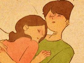 Cảm giác bình yên và ấm áp nhất là được rúc vào vòng tay bạn trai ngủ quên cả thế giới