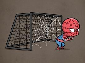 Ảnh hài:  khi các siêu anh hùng chơi... thể thao