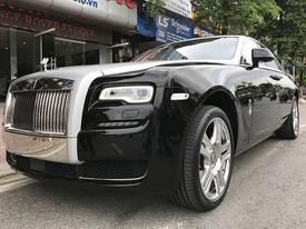 Hà Nội: Rolls-Royce Ghost Series II 25 tỷ bỗng dưng 'chết máy' trên cầu vượt