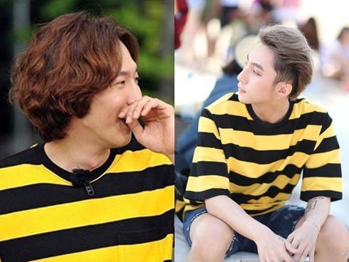 Fan thích thú khi 'hươu cao cổ' Lee Kwang Soo mặc áo đụng hàng Sơn Tùng M-TP