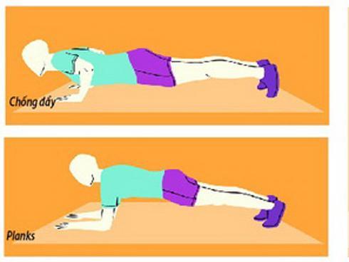 4 động tác hiệu quả để giảm mỡ, tăng sức mạnh cơ bắp