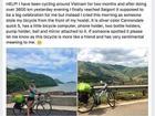 Nữ phượt thủ người Anh mất xe đạp tại TP HCM ngay khi hoàn thành chuyến xuyên Việt dài 3600 km