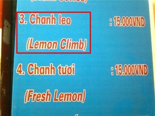 Ảnh hài: Khi thực đơn tiếng Anh được dịch kiểu... Việt hóa