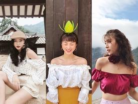 Dàn hot-face Việt diện crop top trễ vai chuẩn fashionista trong street style tuần này